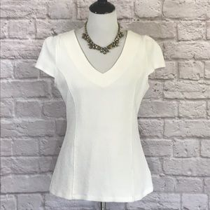 Poshmark/Anthropologie White knit top, size large